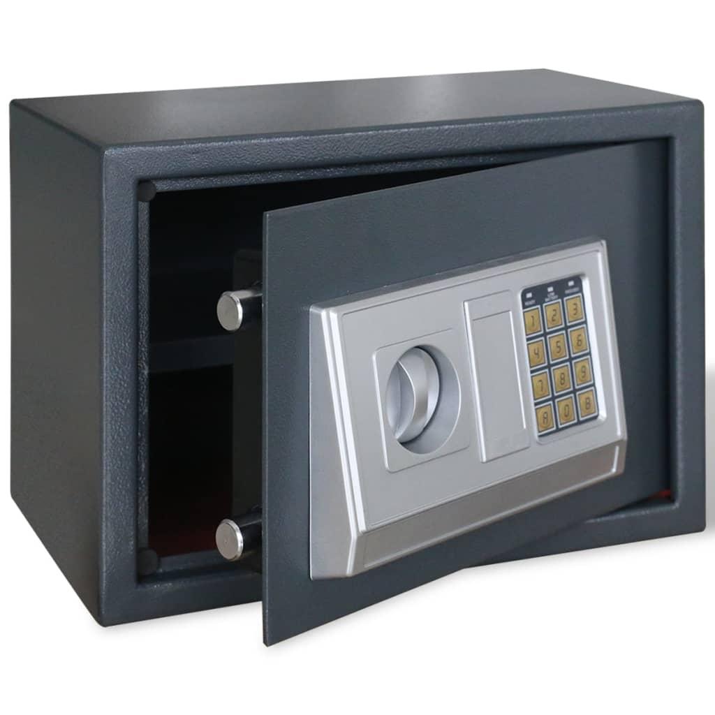 vidaXL Ηλεκτρονικό ψηφιακό χρηματοκιβώτιο με ράφι 35 x 25 x 25 cm