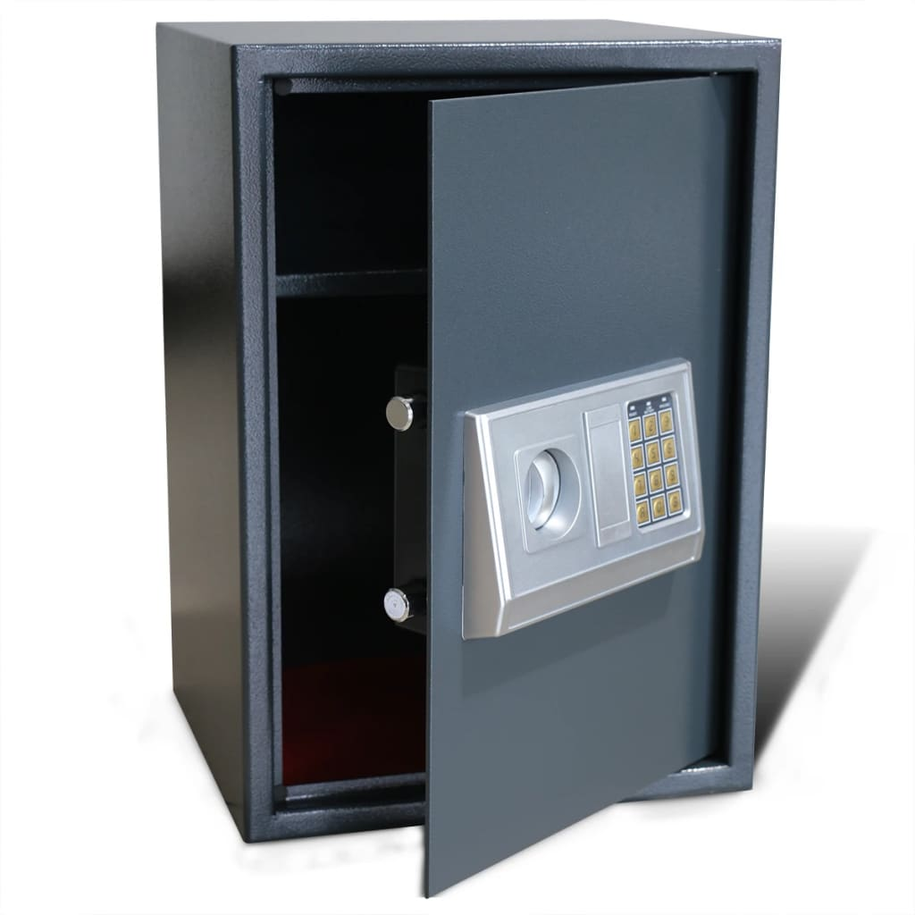 vidaXL Electronic Digital Safe with Shelf 35 x 31 50 cm