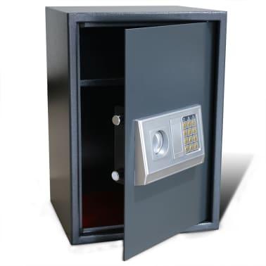 vidaXL Caja fuerte digital electrónica con estante 35x31x50 cm[1/7]