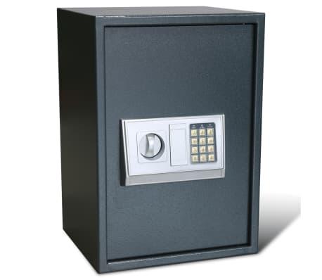 vidaXL Caja fuerte digital electrónica con estante 35x31x50 cm[2/7]