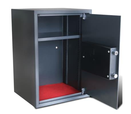 vidaXL Caja fuerte digital electrónica con estante 35x31x50 cm[5/7]