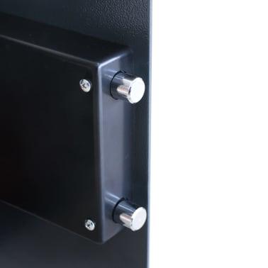 vidaXL Caja fuerte digital electrónica con estante 35x31x50 cm[6/7]
