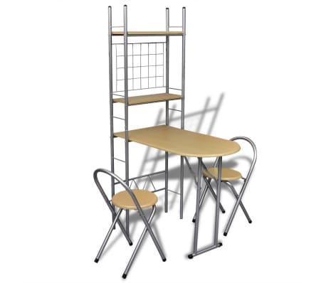 Jeu de bar petit-déjeuner pliable avec 2 chaises[1/9]