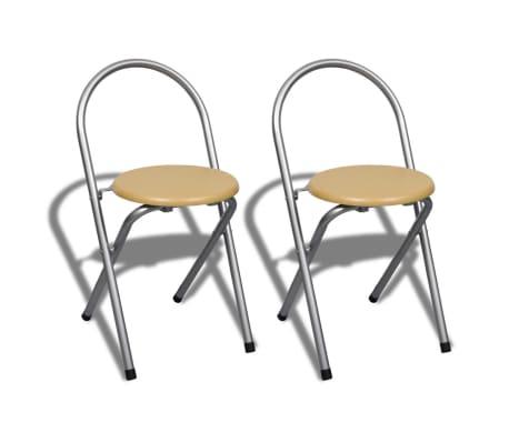 Jeu de bar petit-déjeuner pliable avec 2 chaises[5/9]