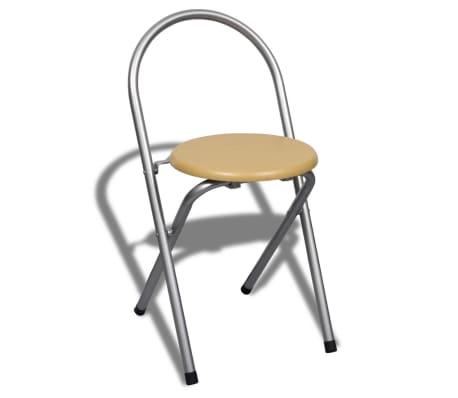 Jeu de bar petit-déjeuner pliable avec 2 chaises[6/9]