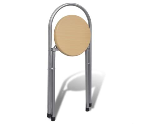 Jeu de bar petit-déjeuner pliable avec 2 chaises[7/9]
