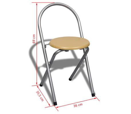 Jeu de bar petit-déjeuner pliable avec 2 chaises[9/9]