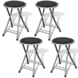 vidaXL Bar Stools 4 pcs Foldable