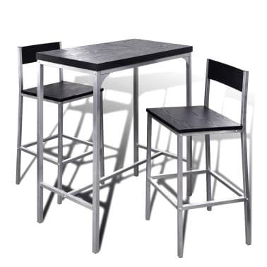 vidaXL Mesa alta y taburetes de bar o cocina[1/5]