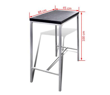 vidaXL Mesa alta y taburetes de bar o cocina[5/5]