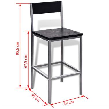 vidaXL Mesa alta y taburetes de bar o cocina[4/5]