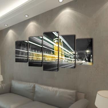 "Canvas Wall Print Set London Big Ben 79"" x 39""[2/3]"