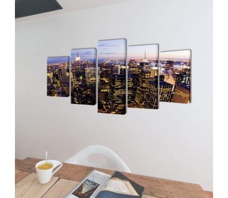 Set de toiles murales imprimées Horizon de New York vu du ciel[2/3]