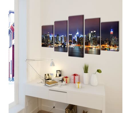 vidaXL Canvastavlor New York Skyline 200 x 100 cm[2/3]