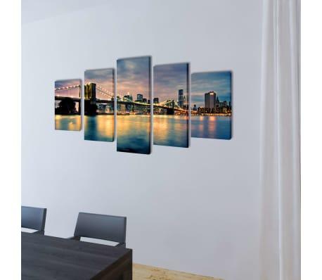 Taulusarja Brooklynin Silta Jokimaisema 200 x 100 cm[2/3]
