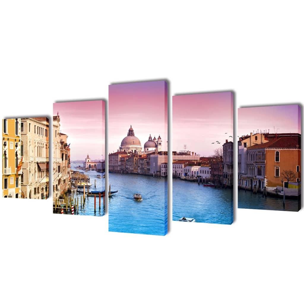 Sada obrazů, tisk na plátně, Benátky, 100 x 50 cm