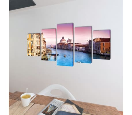 "Canvas Wall Print Set Venice 39"" x 20""[2/3]"