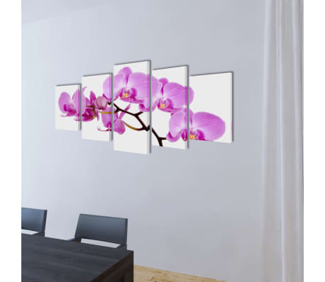 "Canvas Wall Print Set Orchid 39"" x 20""[2/3]"