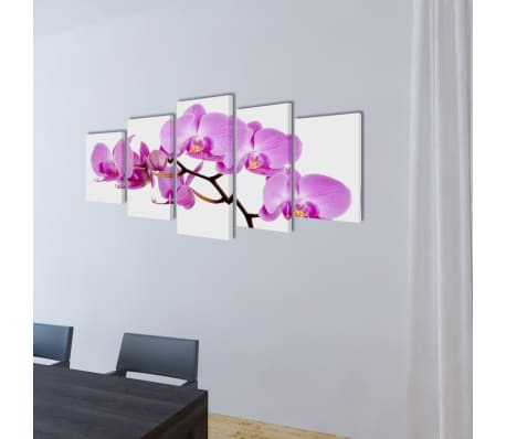 "Canvas Wall Print Set Orchid 79"" x 39""[2/3]"