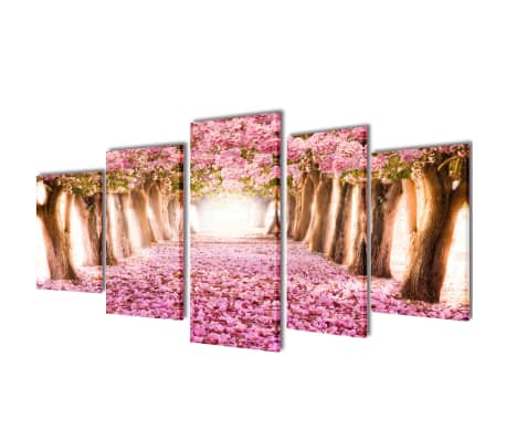 "Canvas Wall Print Set Cherry Blossom 39"" x 20""[1/3]"