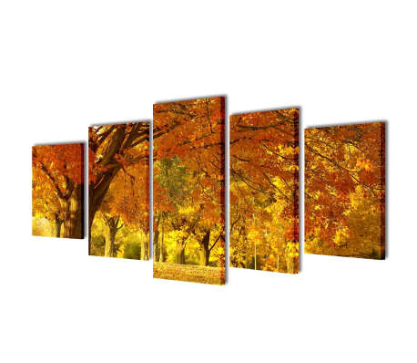 "Canvas Wall Print Set Maple 39"" x 20""[1/3]"