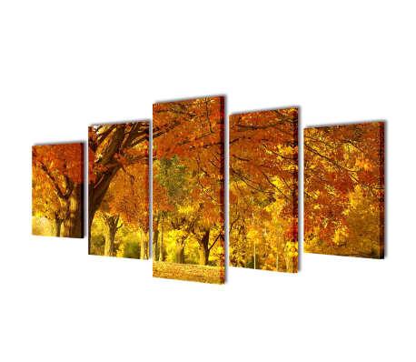 "Canvas Wall Print Set Maple 39"" x 20""[1/3]"