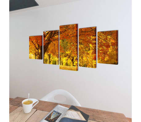 "Canvas Wall Print Set Maple 39"" x 20""[2/3]"