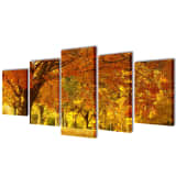"Canvas Wall Print Set Maple 79"" x 39"""
