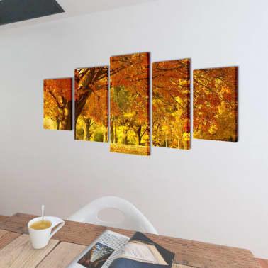 "Canvas Wall Print Set Maple 79"" x 39""[2/3]"