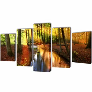 "Canvas Wall Print Set Forest 39"" x 20""[1/3]"