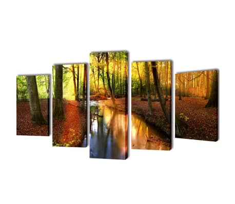 """Canvas Wall Print Set Forest 39"""" x 20"""""""