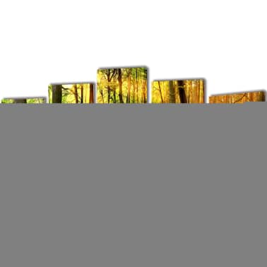 "Canvas Wall Print Set Forest 79"" x 39""[1/3]"