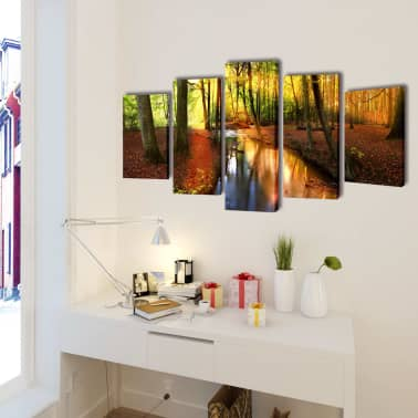 "Canvas Wall Print Set Forest 79"" x 39""[2/3]"