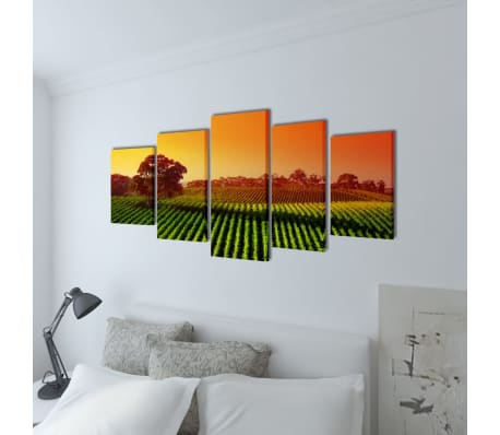 "Canvas Wall Print Set Fields 39"" x 20""[2/3]"