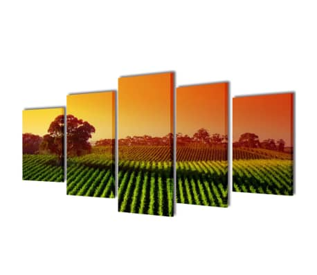 "Canvas Wall Print Set Fields 79"" x 39""[1/3]"