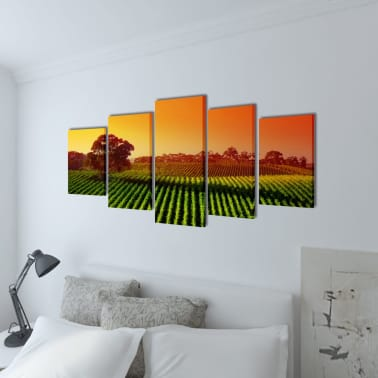"Canvas Wall Print Set Fields 79"" x 39""[2/3]"
