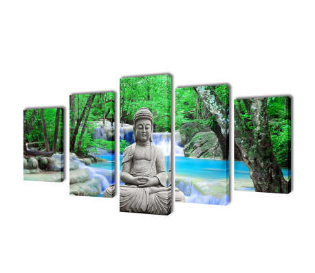 "Canvas Wall Print Set Buddha 39"" x 20""[1/3]"