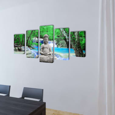 "Canvas Wall Print Set Buddha 79"" x 39""[2/3]"