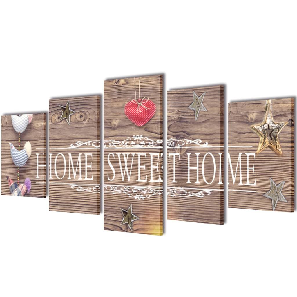 "Kirjaga ""Home sweet home"" lõuend seinale 100.."