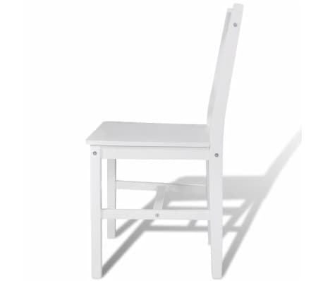 vidaXL Dining Chairs 2 pcs Wood White[4/5]