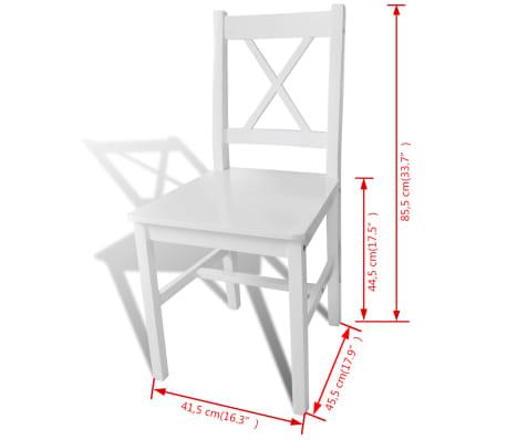 vidaXL Dining Chairs 2 pcs Wood White[5/5]