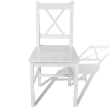 vidaXL Dining Chairs 2 pcs Wood White[2/5]