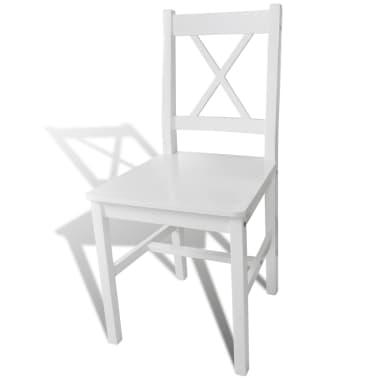 vidaXL Dining Chairs 2 pcs Wood White[3/5]