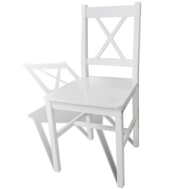 vidaXL Sillas de comedor 4 unidades de madera blanca[3/5]