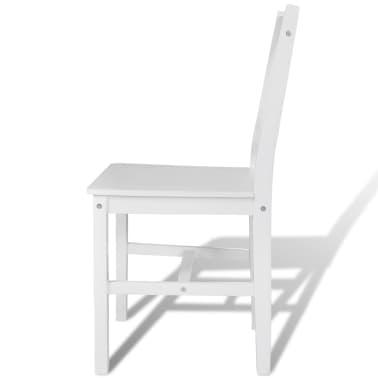 vidaXL Sillas de comedor 4 unidades de madera blanca[4/5]