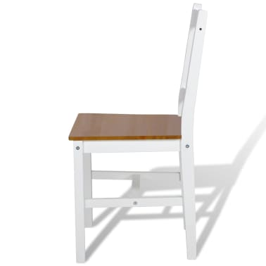vidaXL Dining Chairs 2 pcs White Pinewood[4/5]