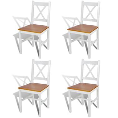 Vidaxl 4 pz sedie da tavola in legno colore naturale e for Tavola e sedie