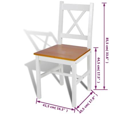 vidaXL Dining Chairs 4 pcs White Pinewood[5/5]