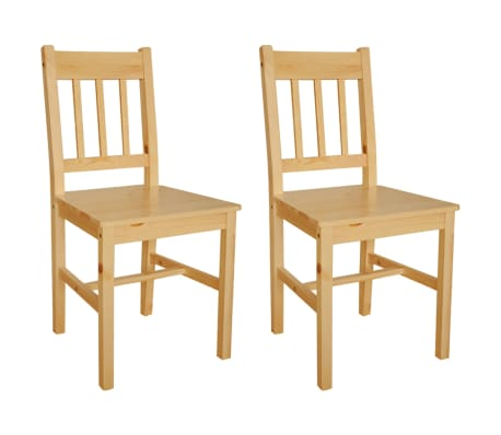 vidaXL Dining Chairs 2 pcs Pinewood