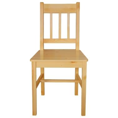 vidaXL Chaises de salle à manger 2 pcs Bois de pin |